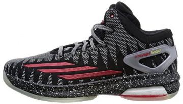 adidas Crazylight Boost Basketballschuh Herren, schwarz / grau / rot, 9.5 -