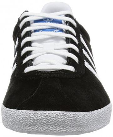 adidas Gazelle OG, Herren Sneakers, Schwarz (Black 1/White/Metallic Gold), 43 1/3 EU (9 Herren UK) -