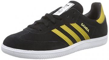 adidas Originals Samba B35214, Unisex-Erwachsene Low-Top Sneaker, Schwarz (Core Black/Spice Yellow F14-ST/FTWR White), EU 36 2/3 -