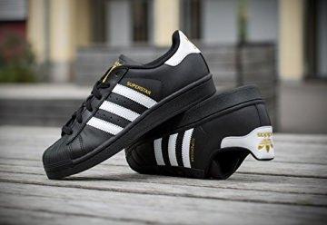 adidas Originals Superstar Foundation Herren Sneakers, B27140, Schwarz (Core Black/Ftwr White/Core Black), EU 42 2/3 -