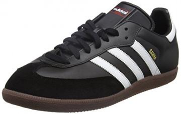 adidas Samba, Unisex-Erwachsene Low-Top Sneaker, Schwarz (Black/ Running White), 44 EU -