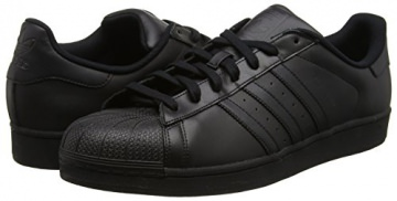 adidas  Superstar Foundation,  Herren Laufschuhe, Schwarz - schwarz - Größe: 38 2/3 -