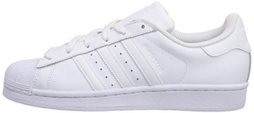 adidas Superstar Foundation, Unisex-Kinder Sneakers, Weiß (Ftwr White/Ftwr White/Ftwr White), 38 EU (5 Kinder UK) -