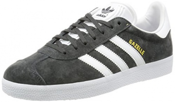 adidas Unisex-Erwachsene Gazelle Low-Top, Grau (Dgh Solid Grey/White/Gold Met.), 44 EU -