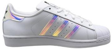 adidas Unisex-Kinder Superstar Sneakers, Blanc (Ftwr White/Ftwr White/Metallic Silver Sld), 38 2/3 EU -